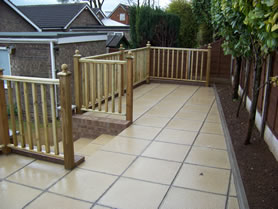 Permeable paving fitted to garden in Castleford
