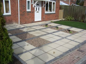 Paving completed in front of house in Selby
